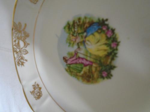 b. passado - trio xícara com pires e pratinho porcelana real