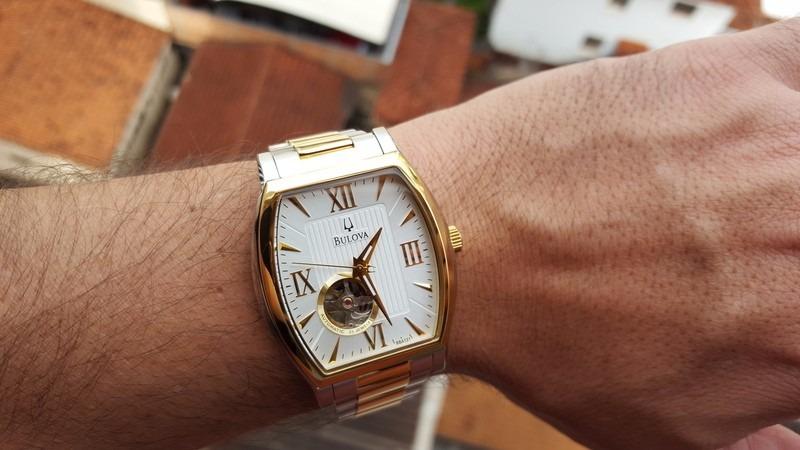 5c5771269bc b u l o v a relógio bulova automatico 98a131 aço plaque ouro. Carregando  zoom.