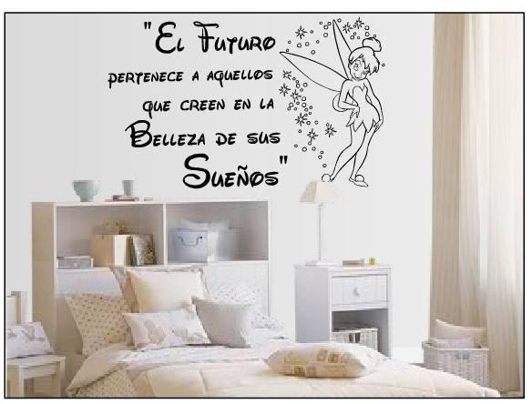 B vinil frases para hogar campanita 120x75cm en for Vinilos decorativos para habitaciones matrimoniales