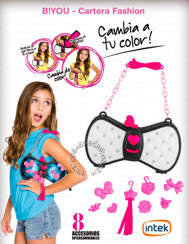 b! you cartera fashion cambia de color ...intek original