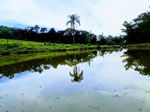 b01 chacaras de 800m² a 1245m² em guararema c/ lago p/ pesca