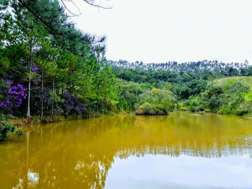 b01 lotes c/ otima topografia e lago povoado de peixes