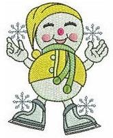 b10 coleção bordados computadorizados natal bonecos de neve