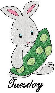b1099 coleção bordados computadorizados coelhos