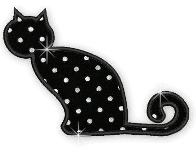 b125 coleção bordados computadorizados apliques animais gato