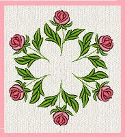 b155 coleção bordados computadorizados rosas flores