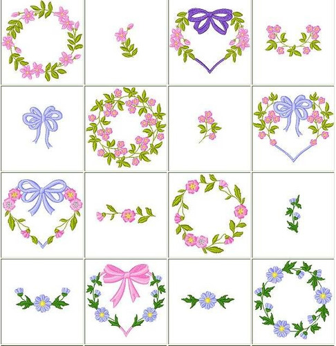 b212 coleção bordados computadorizados escudos flores brasão