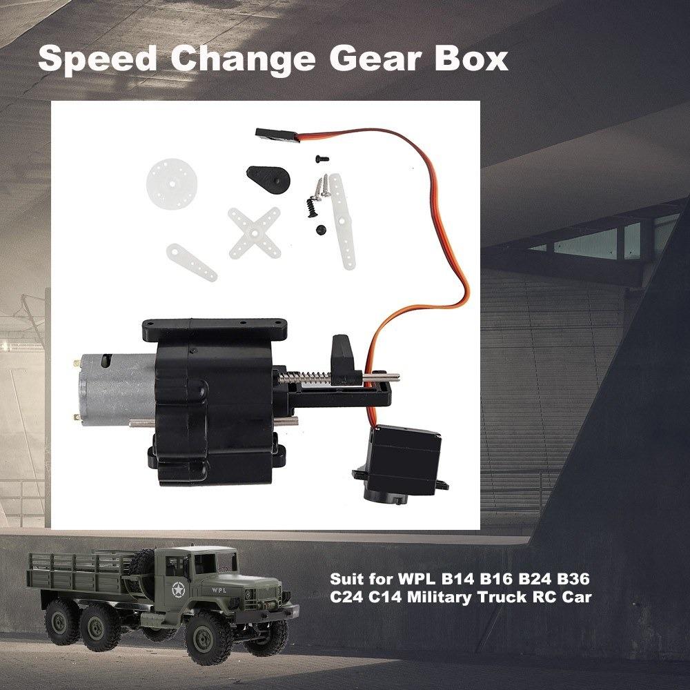Caixa de engrenagem de energia para Caminhão Militar 1//16 WPL B-14 B-24 B-16 B-36 C-14 C-24 Rádio Controle K8Q9
