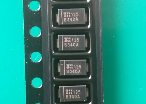 b340 a ( kit c/ 5 unidades) diodo smd b340a 3a 40v schottky