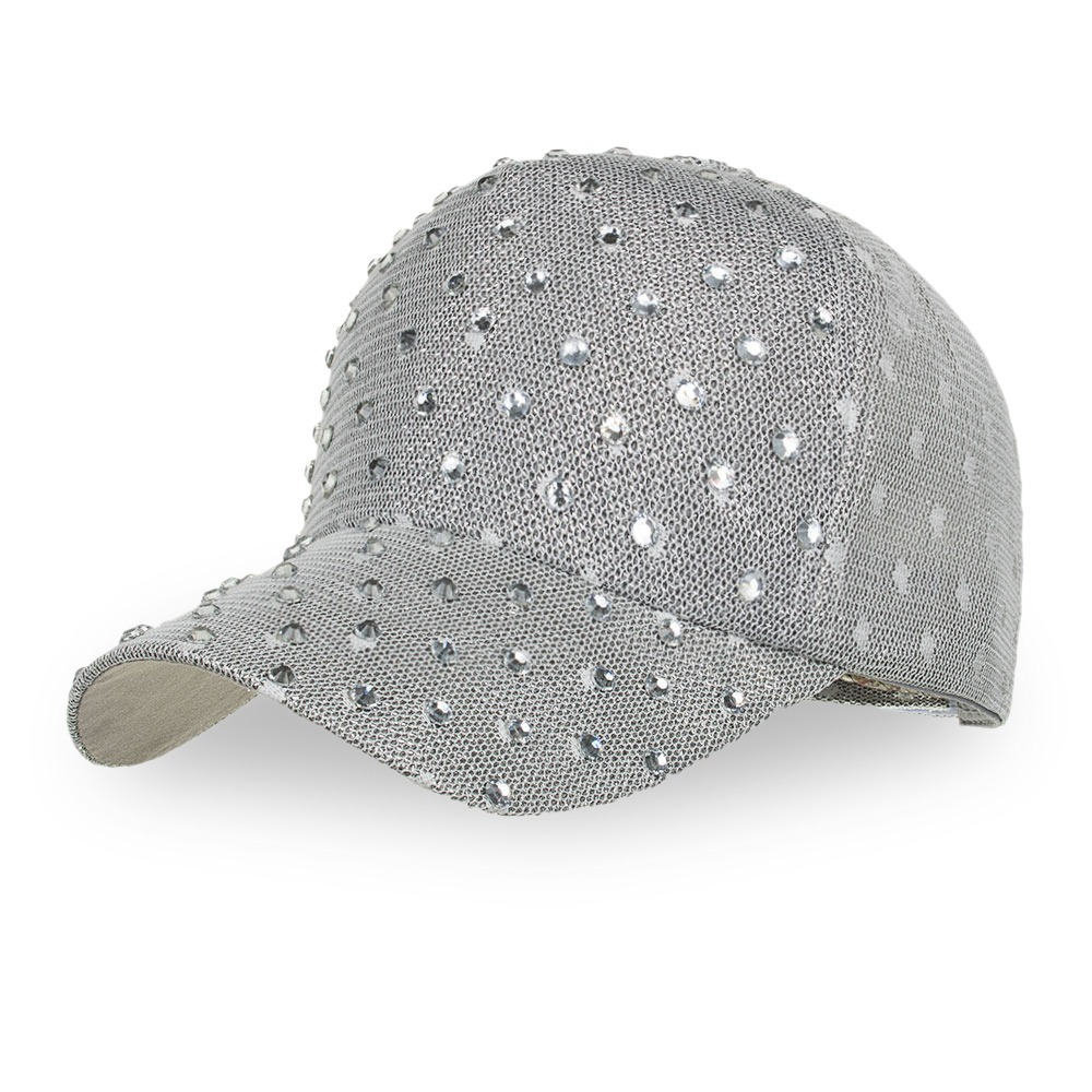 224921cf8ec57 b522 tapa béisbol diamante de imitación ajustable sombrero. Cargando zoom.