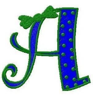 b553 coleção bordados computadorizados alfabeto monogramas