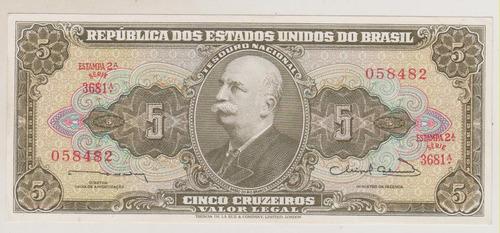 b56 - 5 cinco cruzeiros fe c-072 r$ 12,00