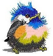 b649 coleção bordados computadorizados passaros passarinhos