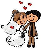 b658 bordados computadorizados casamento casados noivos