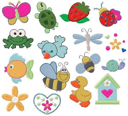 b750 coleção bordados computadorizados animais diversos
