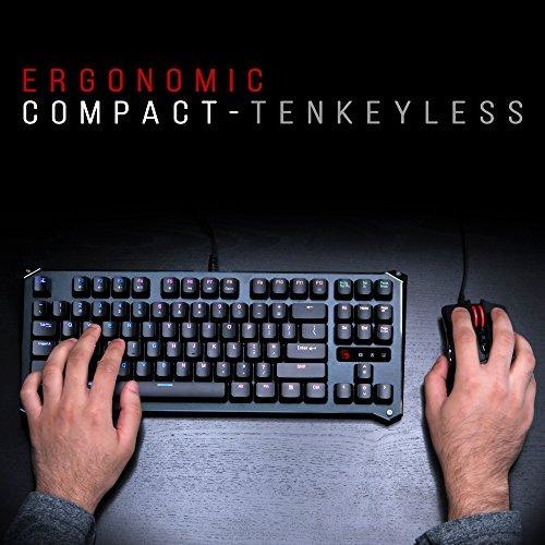 b930 teclado de juego óptico compact light strike (suave y