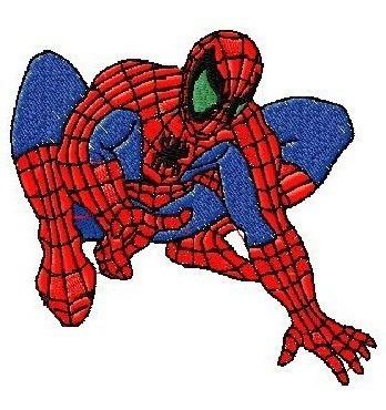 b97 coleção bordados computadorizados homem aranha