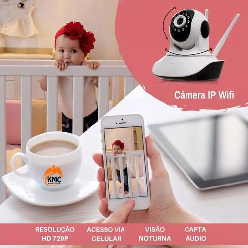 babá eletrônica câmera wifi hd visão noturna audi android 3g