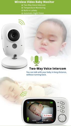 babá eletrônica com câmera visao noturna video monitor wifi + frete gratis
