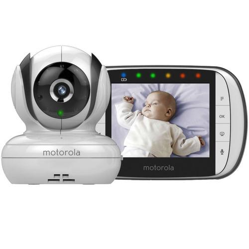 babá eletrônica motorola mbp-36s visão noturna tela 3.5 c/nf