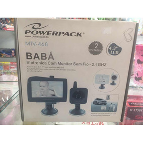 24a21b618 Baba Eletronica Powerpack Mtv 702 Com Monitor Sem Fio 2.4ghz - Babá ...