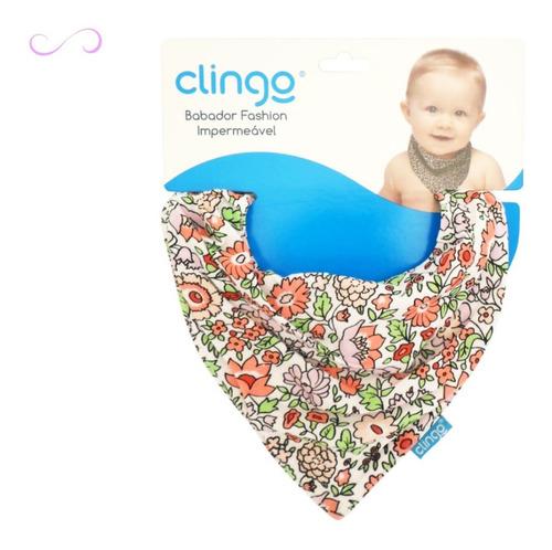babador bandana 100% algodão botão pressão estampado clingo