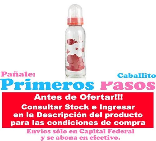 babelito mamadera biberón vidrio 250 ml tetina silicona bebe