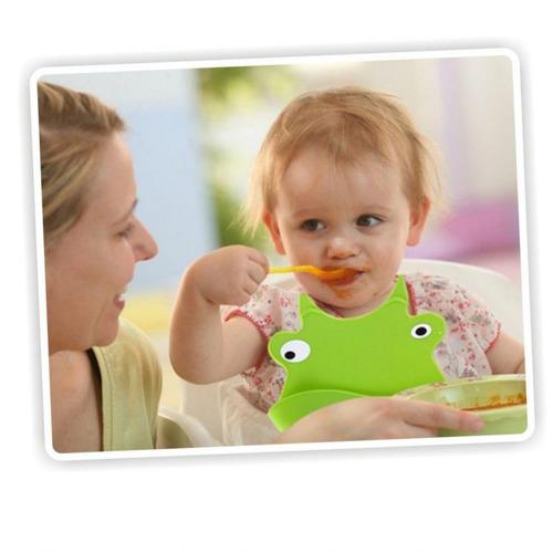 babero baby bib con divertidos animalitos-vaca-