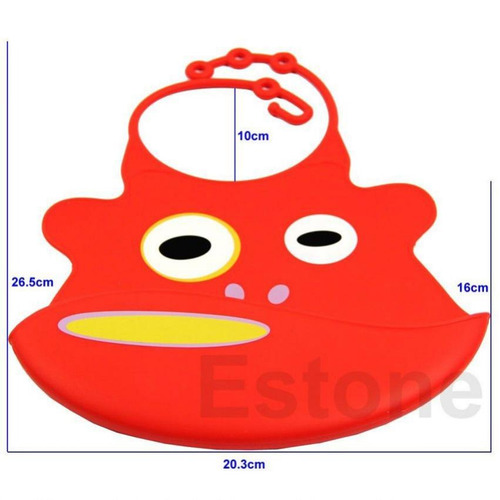 babero baby bib con divertidos estampados-rojo