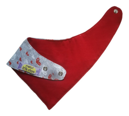 babero bandana algodón e impermeable tricapa x 5 unidades