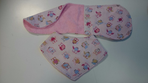 babero bandana + babita doble faz