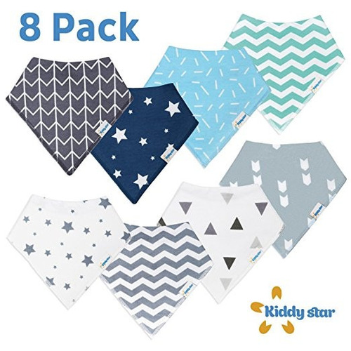 babero bandana capa interior impermeable bebés colores 8 p