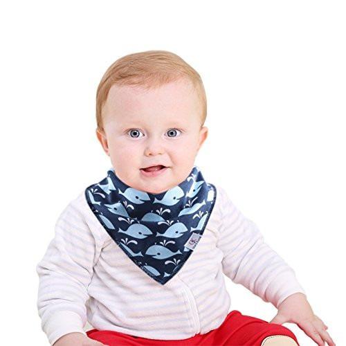 babero bandana capa interior impermeable bebés colores 8 u
