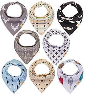 babero bandana capa interior impermeable bebés colores 8 uni