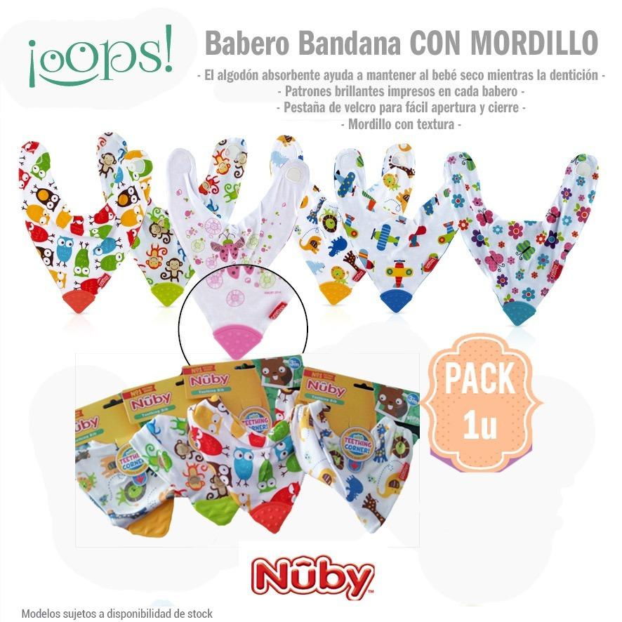 Babero Con Mordillo Goma Nuby - Importado 100% Algodon - $ 179,00 en ...