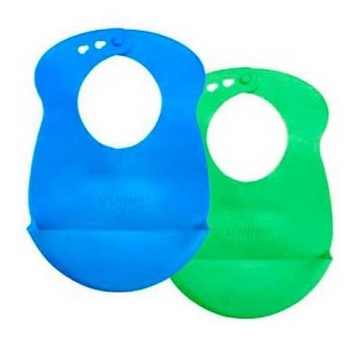 babero de silicona tommee tippee para niño x 2 unidades