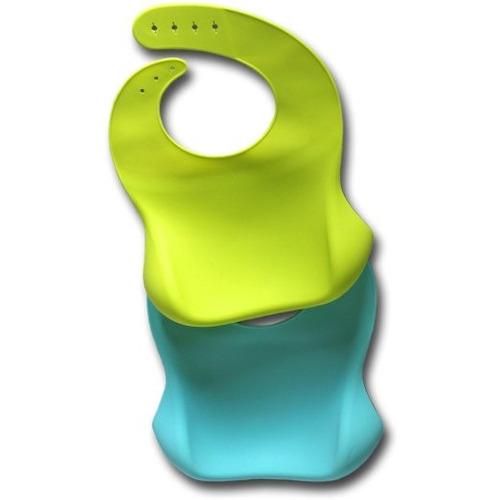 babero impermeable silicona evita limpiar fácilmente x 2 un