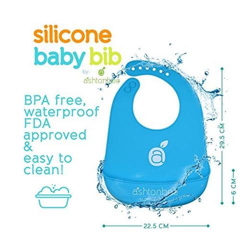 babero impermeable silicona evita limpiar fácilmente x 3 un