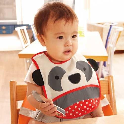 babero  para bebe skip hop panda