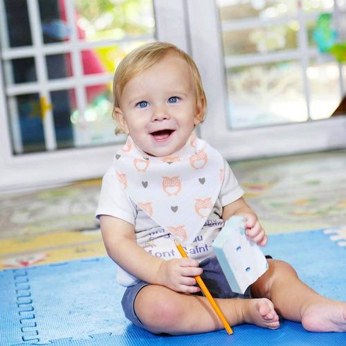 baberos bandana para bebé para niños y niñas, supersuaves