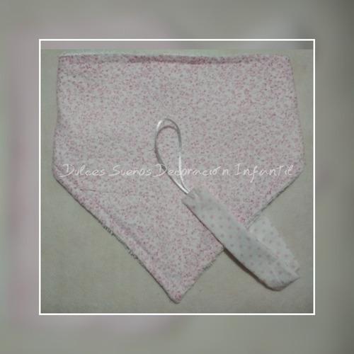 baberos bandana + portachupetes