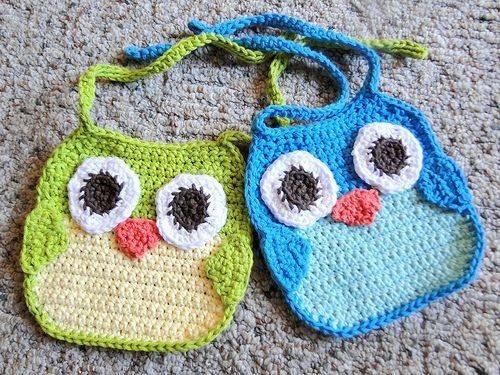 baberos crochet