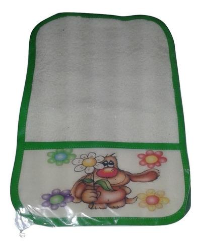 babita de algodon y toalla estampada