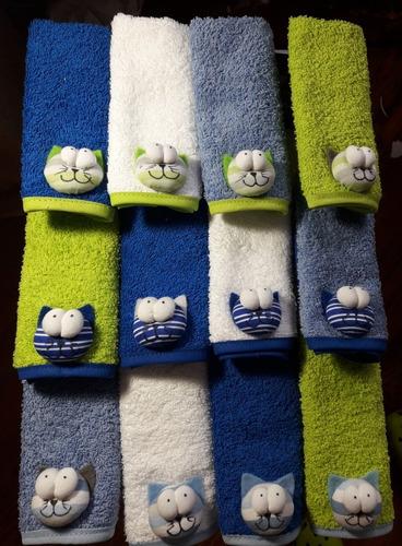 babitas de toalla. docena. ajuar del bebe   piolines