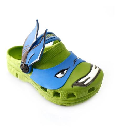 babuche kids tartarugas ninja leonardo infantil - verde
