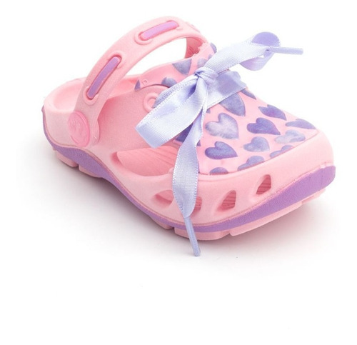 babuche plugt mocs corações infantil - rosa