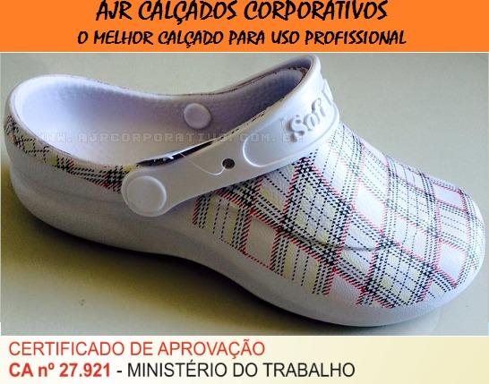 95da338f6 Babuche Profissional Soft Works Estampado - Branco Xadrez - R$ 49,50 ...