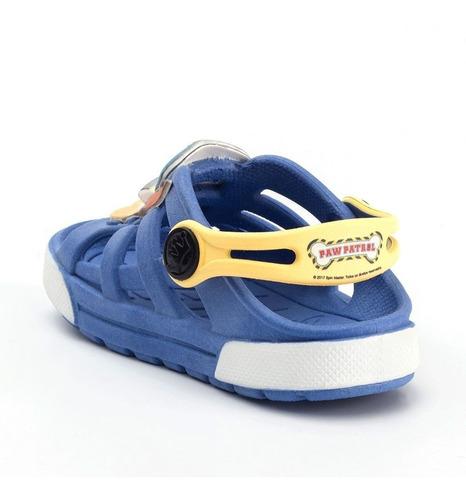 babuche sandália plugt dude chase 3d infantil - azul