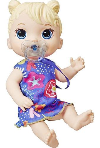 baby alive bebê primeiros sons - loira - hasbro