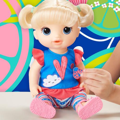 baby alive bebé con estilo (cabello rubio lacio)